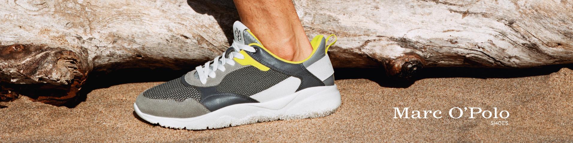 Auf ganz leisen Sohlen: braune Marc O'Polo Sneaker für