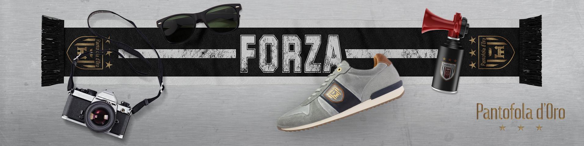 Auf ganz leisen Sohlen: graue Pantofola d'Oro Sneaker für