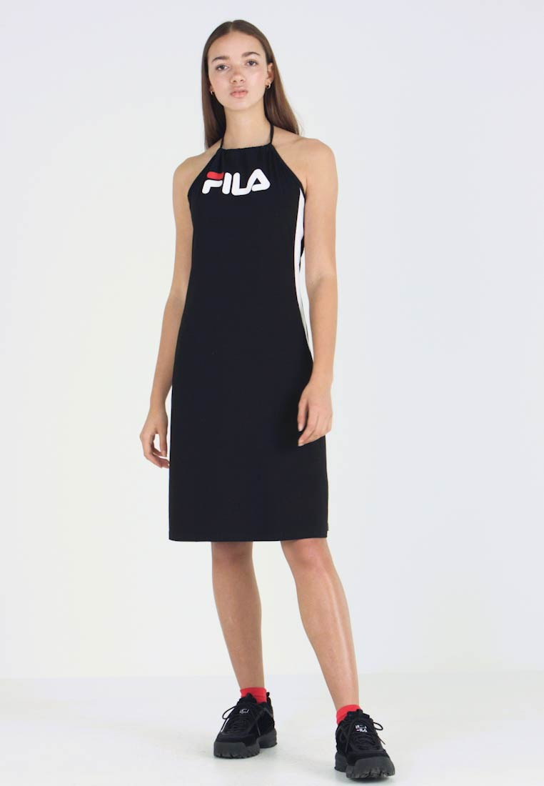 Fila - ALINA NECKHOLDER DRESS - Trikoomekko - black/bright white