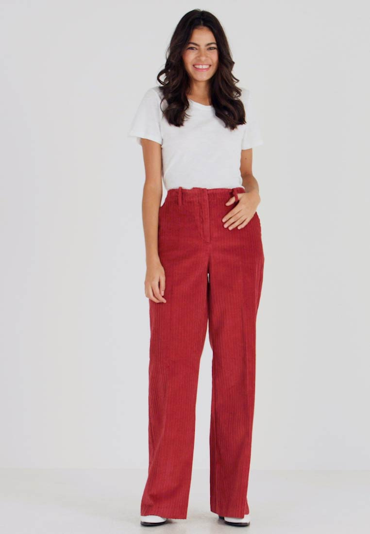 Benetton - WIDE LEG PANT - Trousers - toffee brown