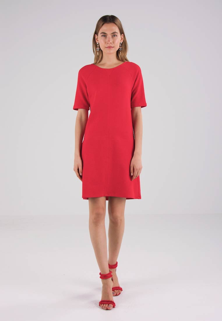 Benetton TEXTURED SHIFT DRESS - Sommerkjole - red