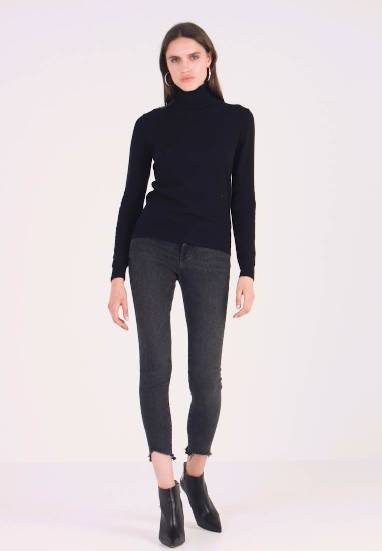 Benetton - TURTLE NECK - Jumper - black