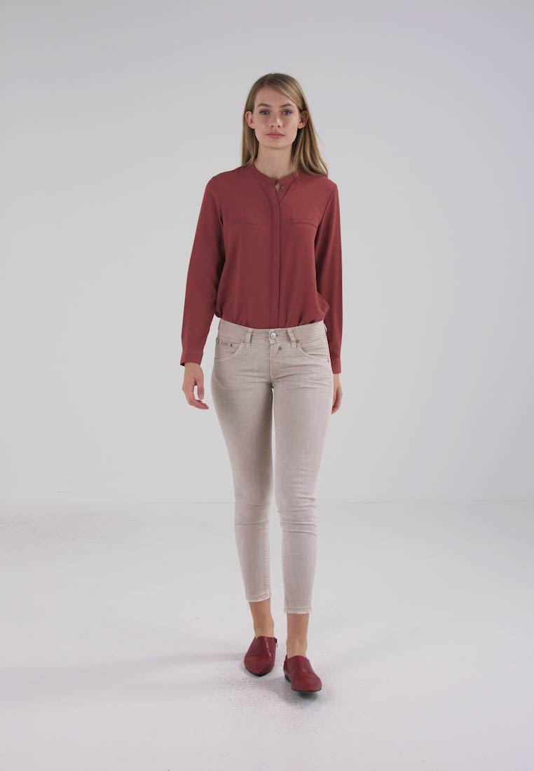 Herrlicher TOUCH CROPPED - Jeans Skinny Fit - beige