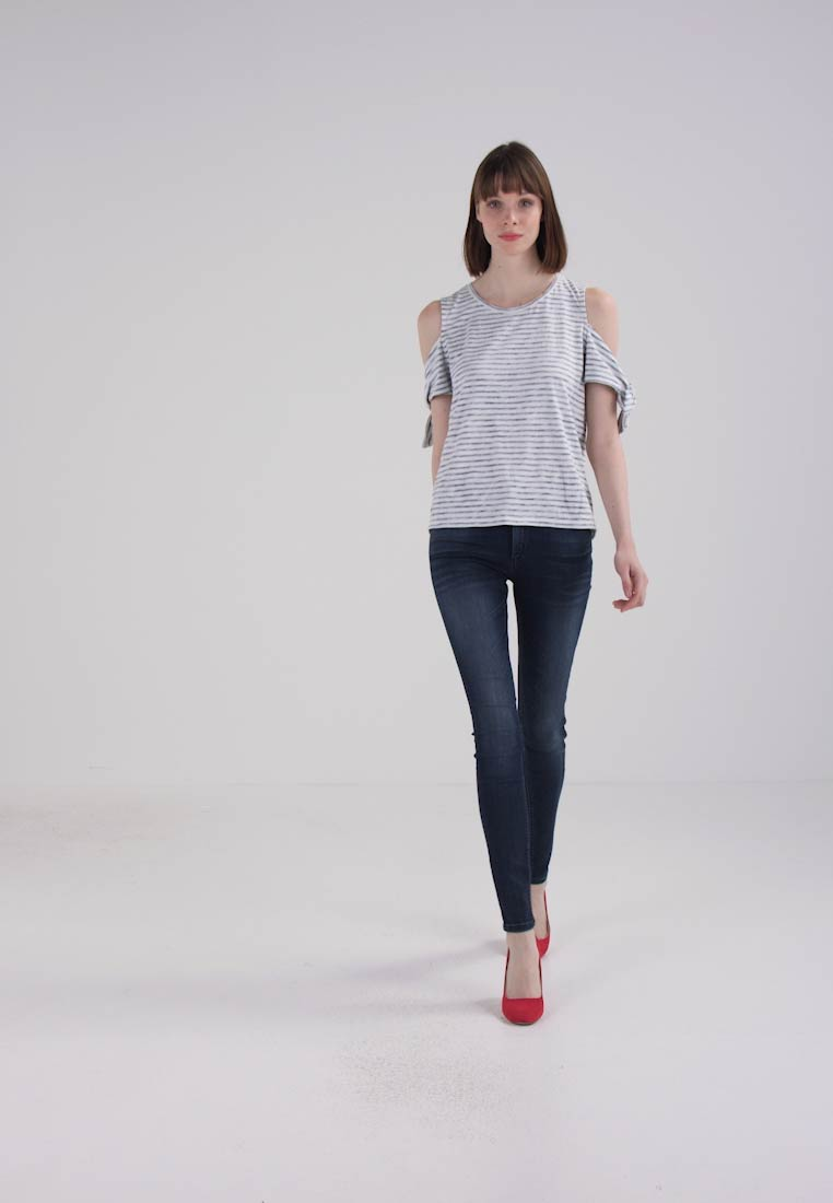 SANDRINE FLAME - T-shirt con stampa offwhite