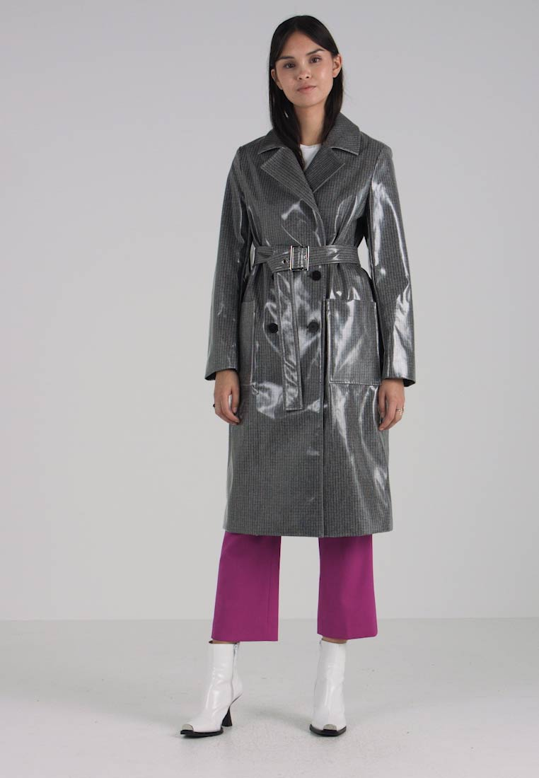 Coated Grey Coated Klein Klein Calvin LongTrench Calvin 8wvNnO0ym