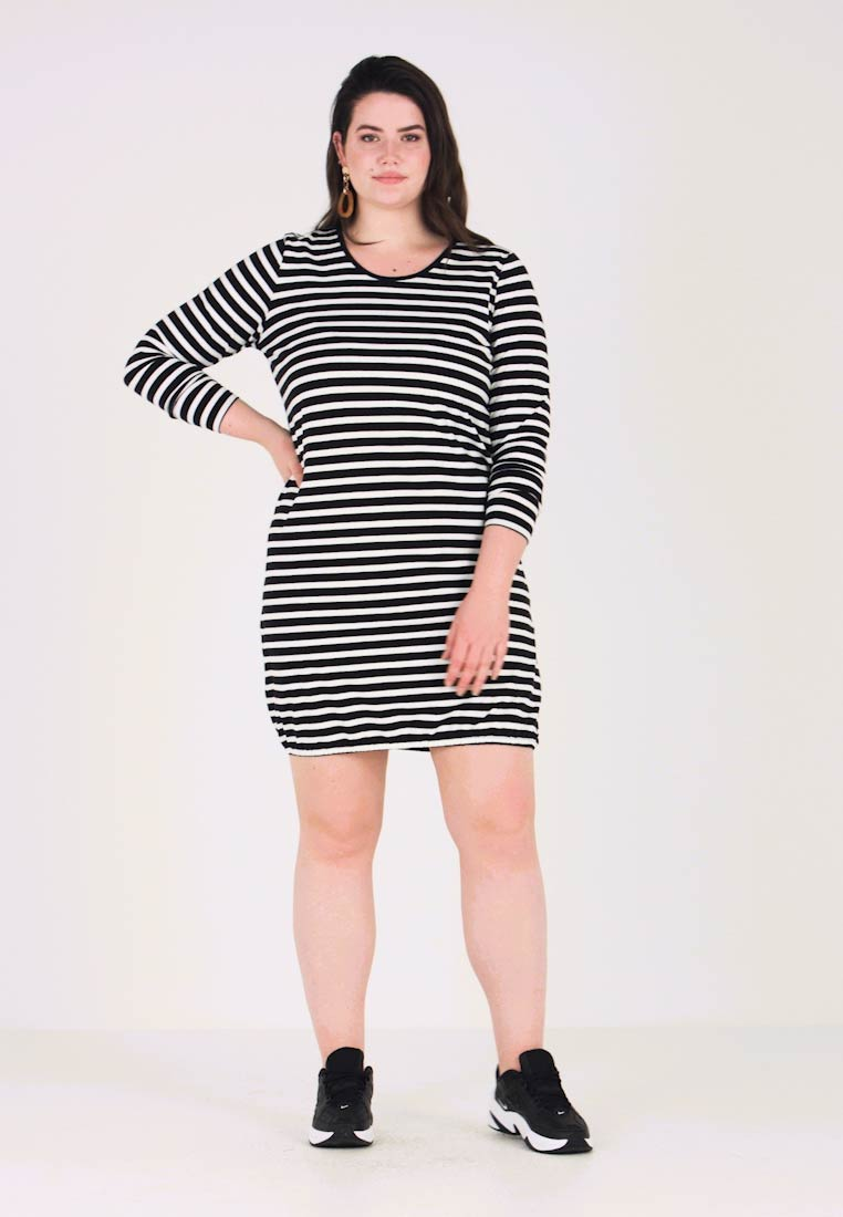 ADIA - STRIPE DRESS - Jersey dress - black
