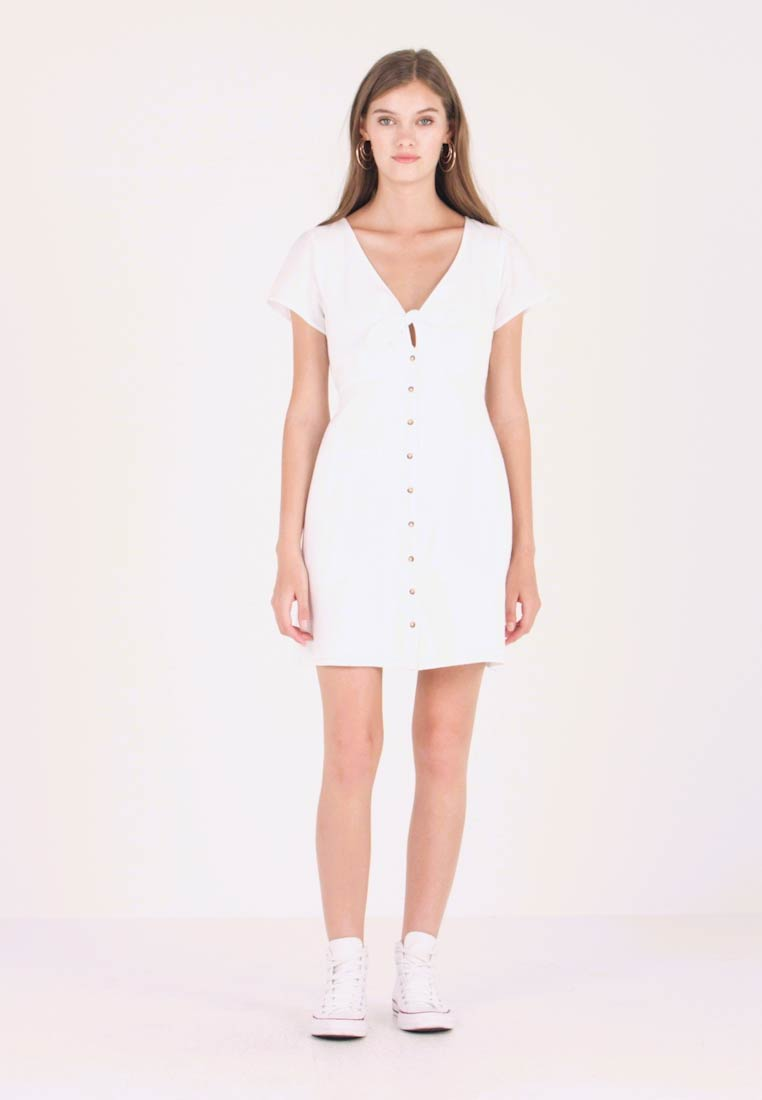 Abercrombie & Fitch - CAMP DRESS - Blusenkleid - white solid
