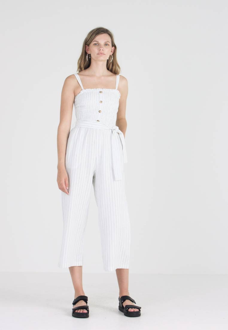 Abercrombieamp; SmockedCombinaison Abercrombieamp; Fitch Stapless White 4Rj3AqcLS5