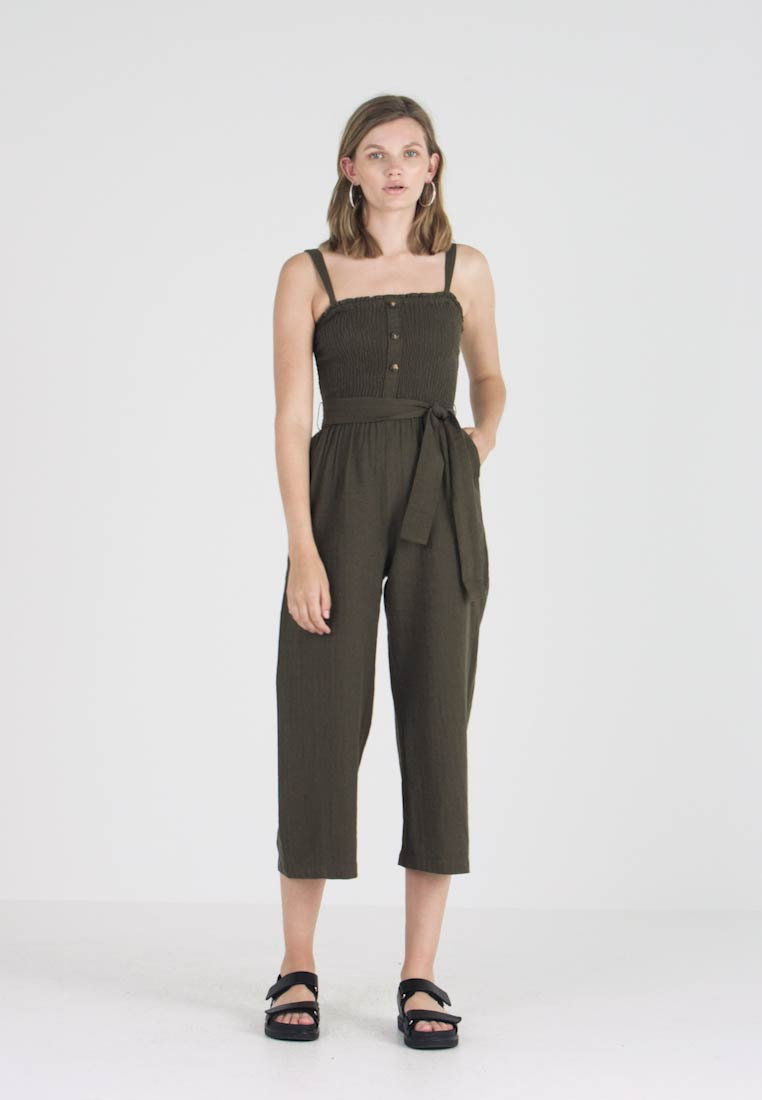Abercrombie & Fitch - STAPLESS SMOCKED - Overall / Jumpsuit /Buksedragter - olive