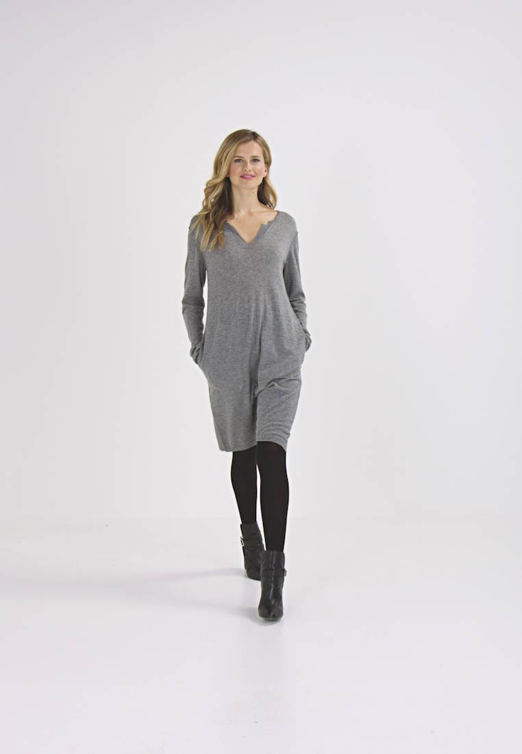 And Less PALMAIRE - Robe pull - grey melange
