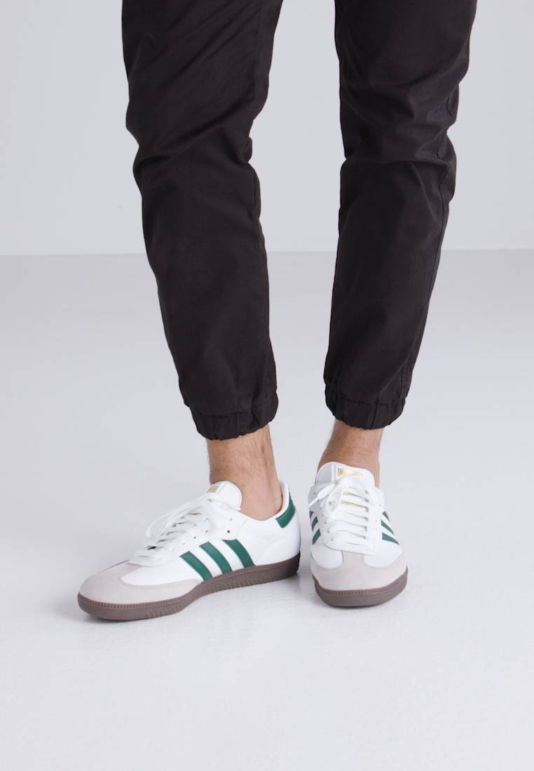 adidas Originals SAMBA - Zapatillas footwear white/clear green/clear granite