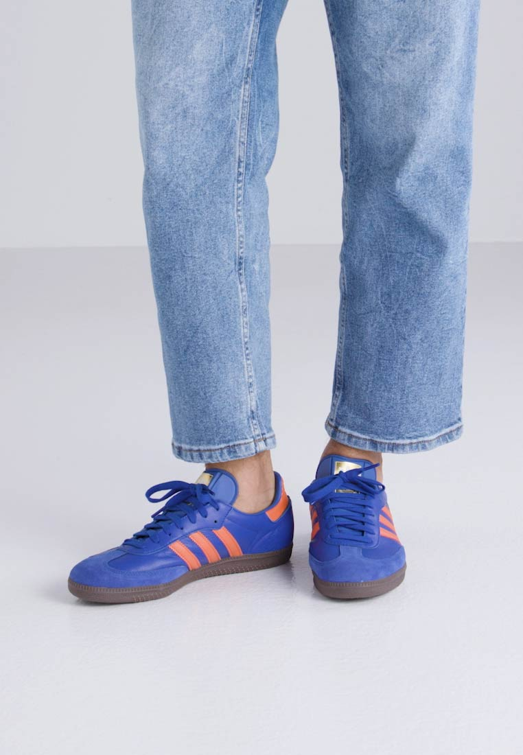 adidas Originals SAMBA - Baskets basses - boblue/orange
