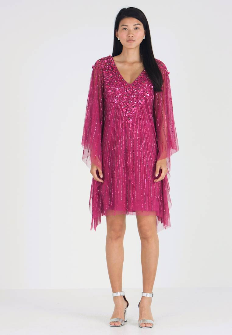 Adrianna Papell - BEADED SHORT - Cocktail dress / Party dress - red plum