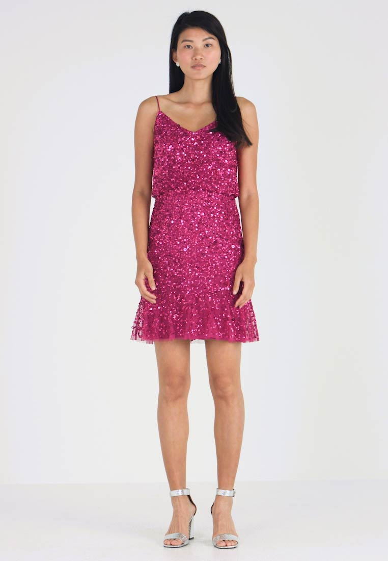 Adrianna Papell - SHORT POPOVER DRESS - Cocktail dress / Party dress - red plum