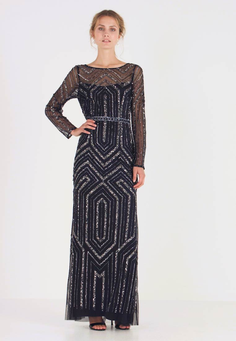 Adrianna Papell - GEO BEADED LONG DRESS - Occasion wear - midnight