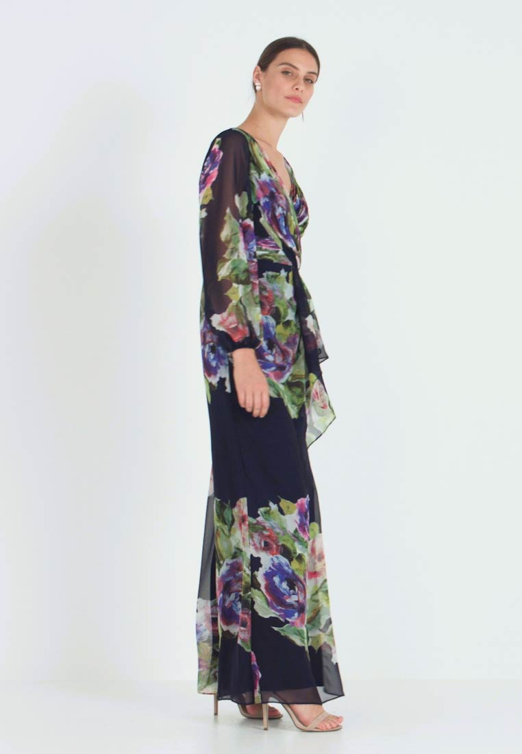 Adrianna Papell - FLORAL PRINTED GOWN - Ballkjole - navy multi