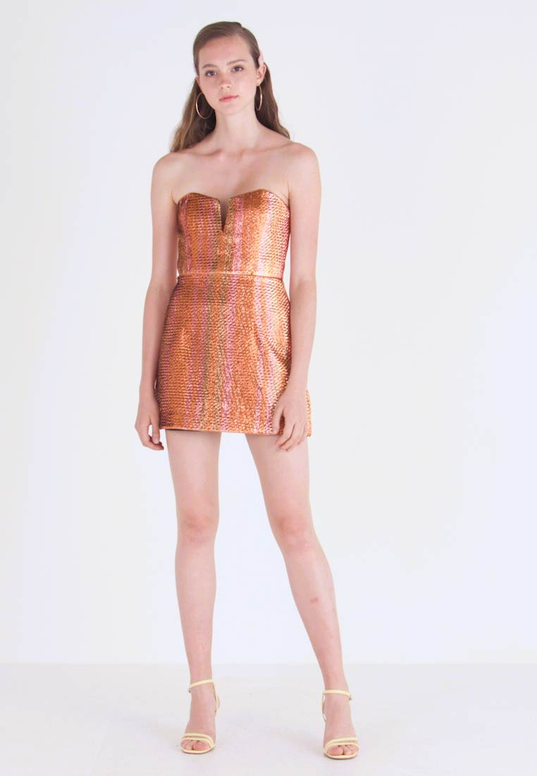 authentic quality classic fit well known ELECTRIC NIGHTS MINI DRESS - Robe de soirée - copper