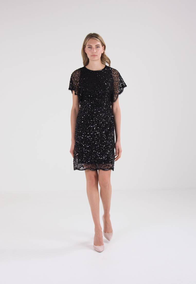 Anna Field DRESS WITH SCALLOPS - Robe de soirée - black