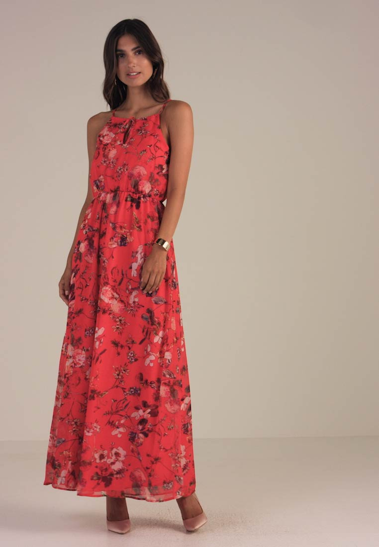 Anna Outlet Maxi Field Dress Red wBTvBpq