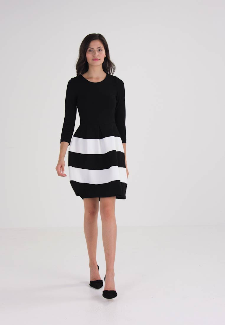 Anna Field Robe en jersey - black white