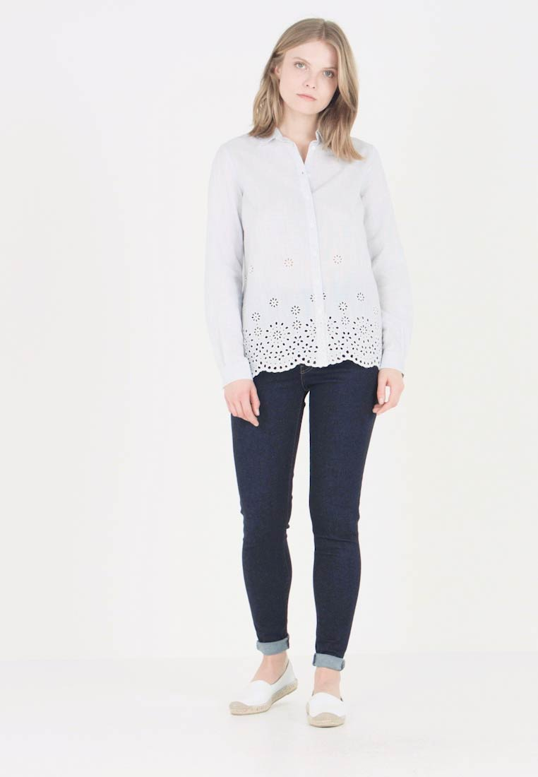 Anna Field - Button-down blouse - white/light blue