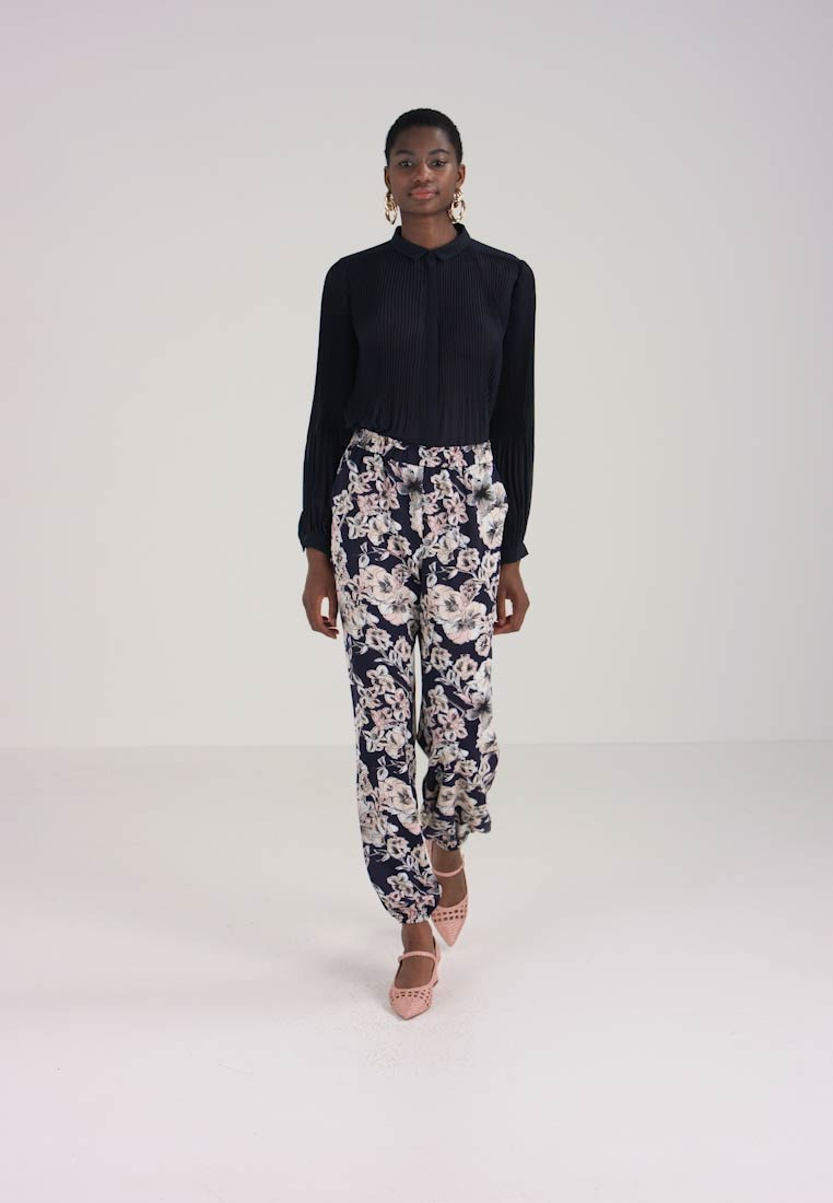 Dark Bardot Abstract Pant Trousers Blue HwfYg