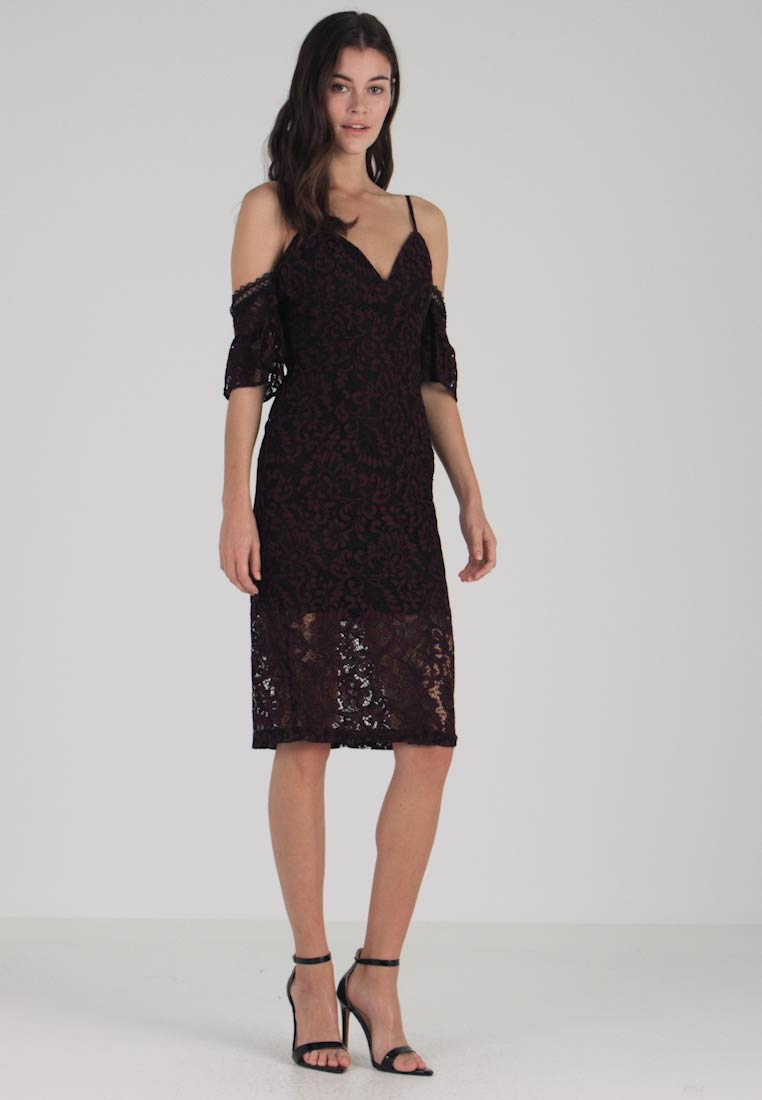 Bardot - TAEGAN MIDI DRESS - Cocktailkjoler / festkjoler - wine