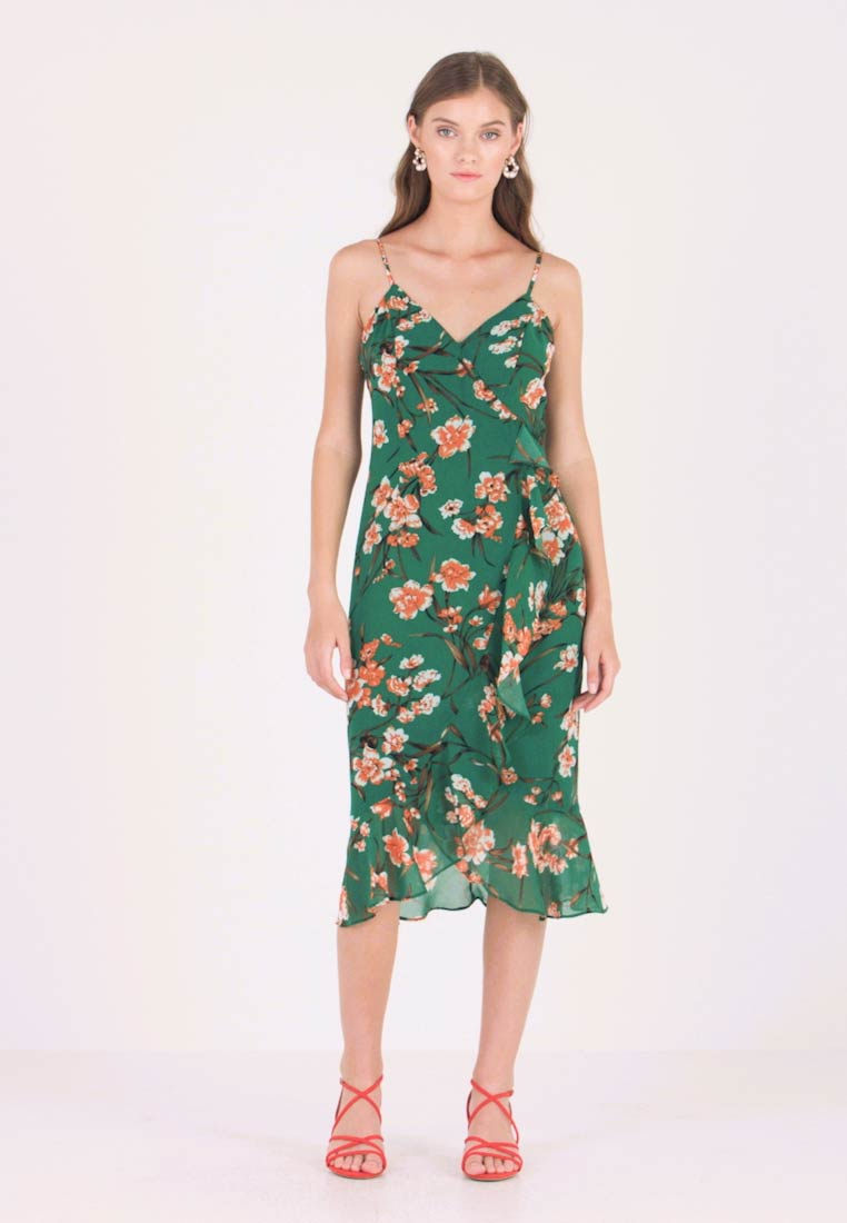 MALIKA FLORAL DRESS - Maxi-jurk - orange