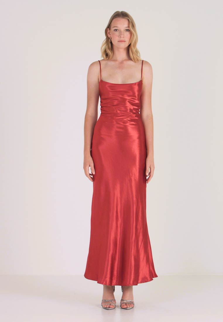 DressRobe De Drape Bardot Estelle Burnt Cocktail Red UzVSMp