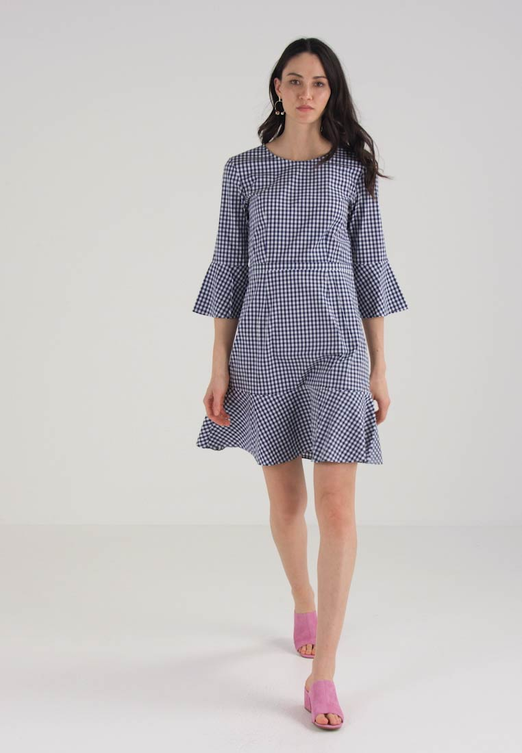 Baukjen LYRA FRILL DRESS - Robe dété - blue gingham