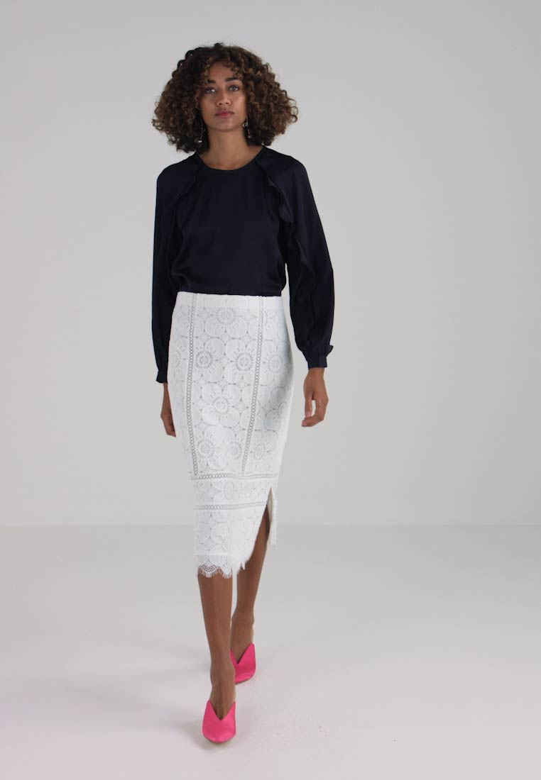 Banana Republic Skirt Pencil White Midi FqFRTxPrw