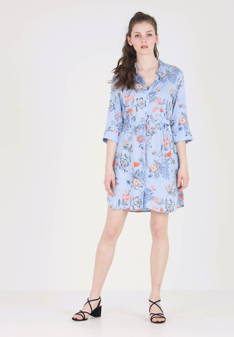 b.young - BYHAILEY DRESS - Robe chemise - blue combi
