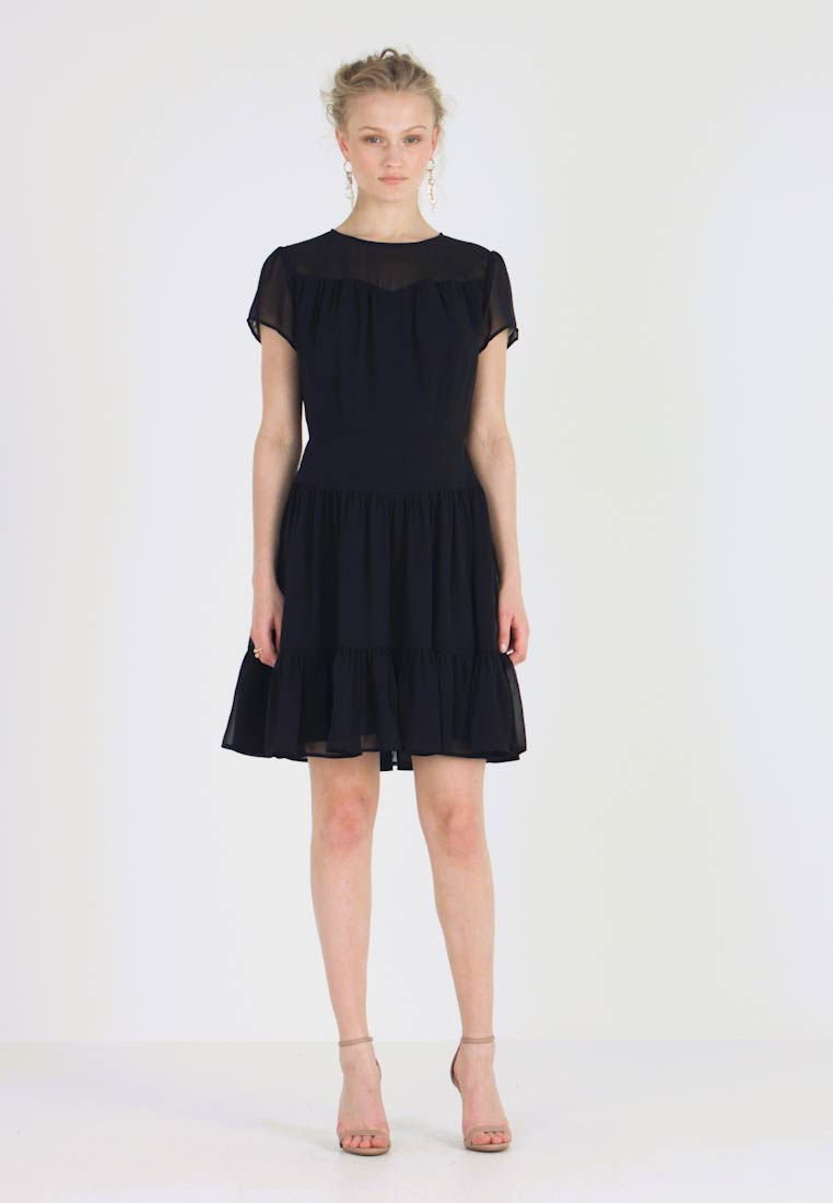 Calvin Klein Jeans - DOUBLE LAYER DRESS - Freizeitkleid - black