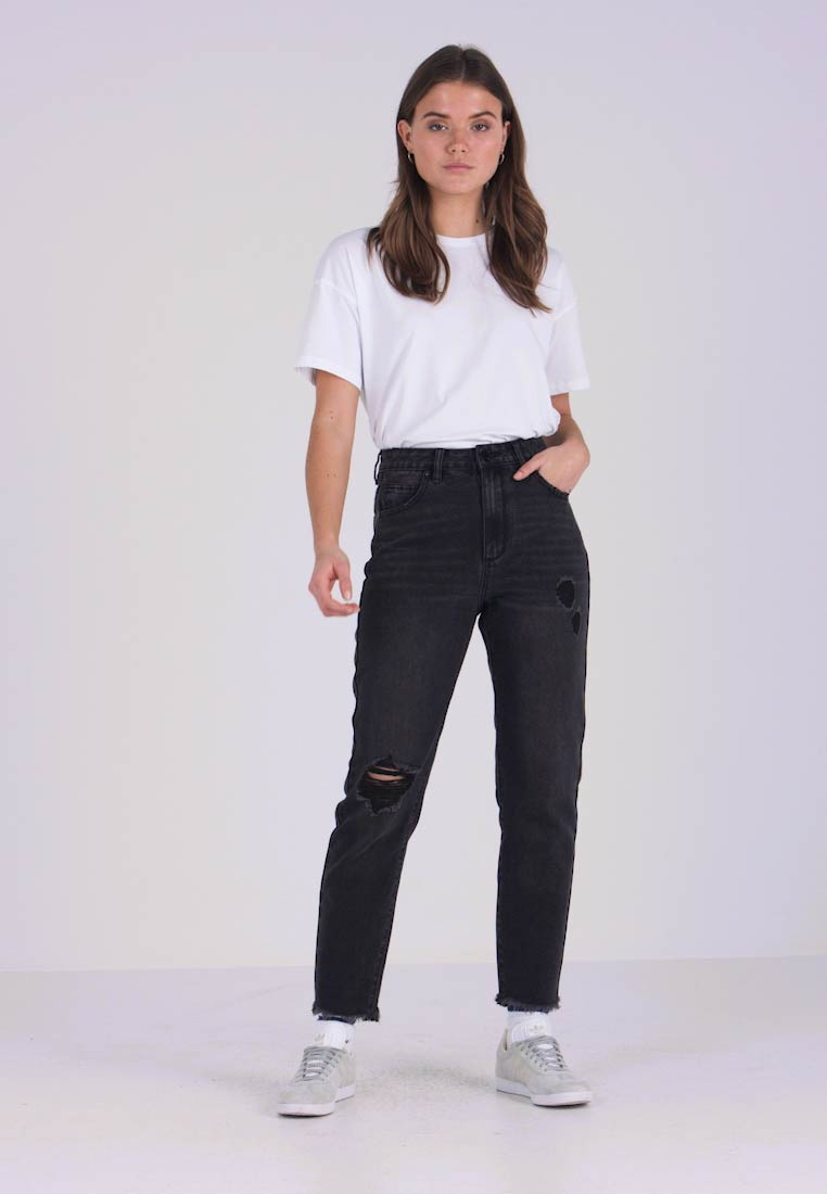 Cotton On - HIGH 90S MOM  - Relaxed fit jeans - blur stone black