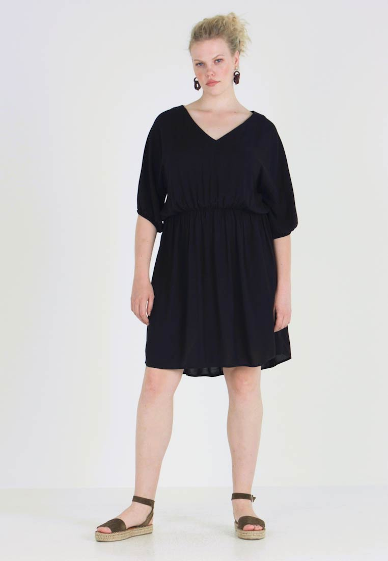 Cotton On Curve - GATHERED WAIST DRESS - Robe d'été - black