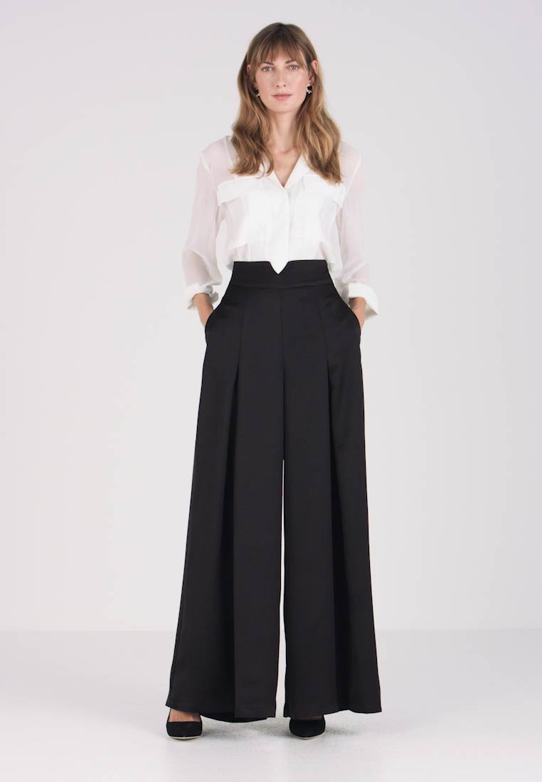 Coast - HATTIE HIGH WAISTED TROUSER - Tygbyxor - black