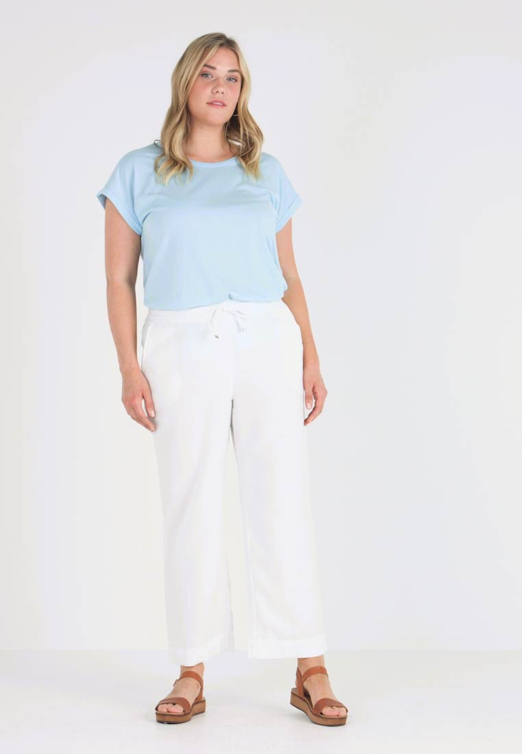 CAPSULE by Simply Be - EASY CARE MIX TROUSERS - Bukser - white