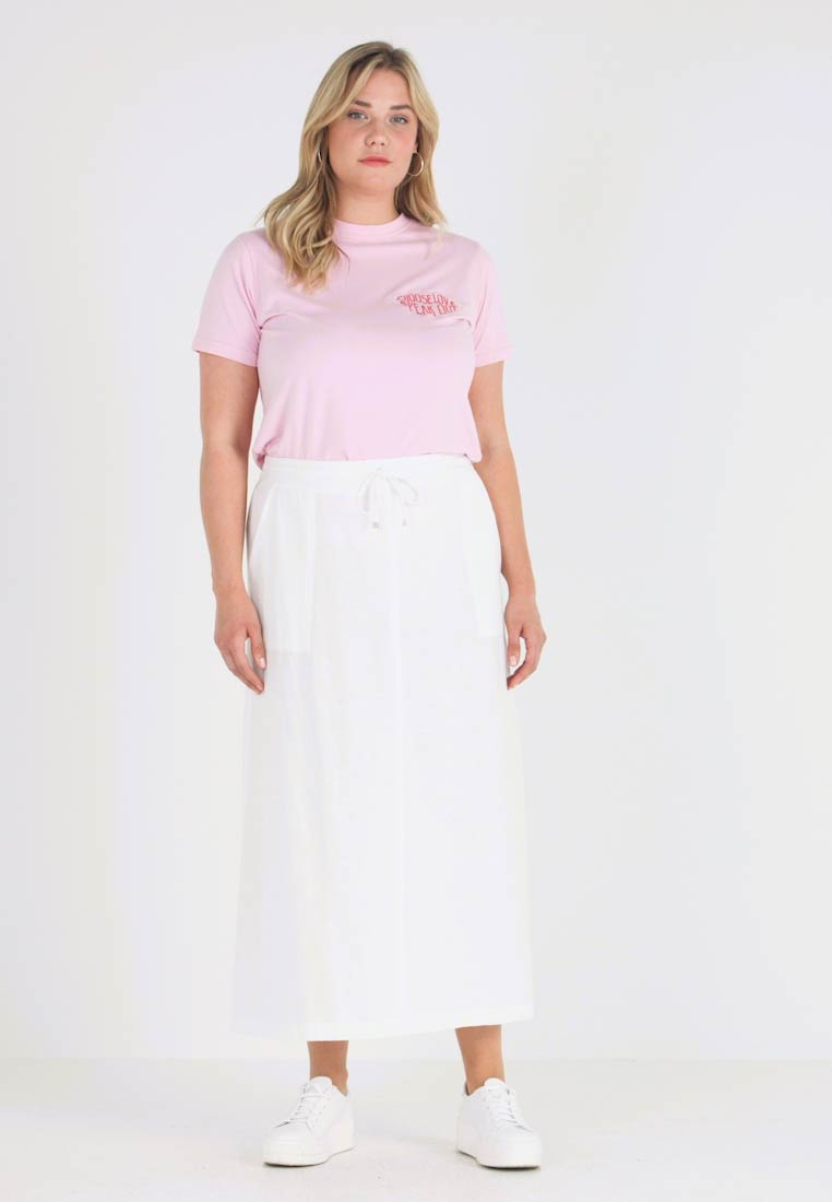 CAPSULE by Simply Be - EASY CARE MIX SKIRT - Maxirock - white