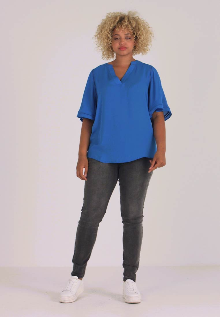 CAPSULE by Simply Be - LADDER INSERT TUNIC - Bluse - cobalt blue