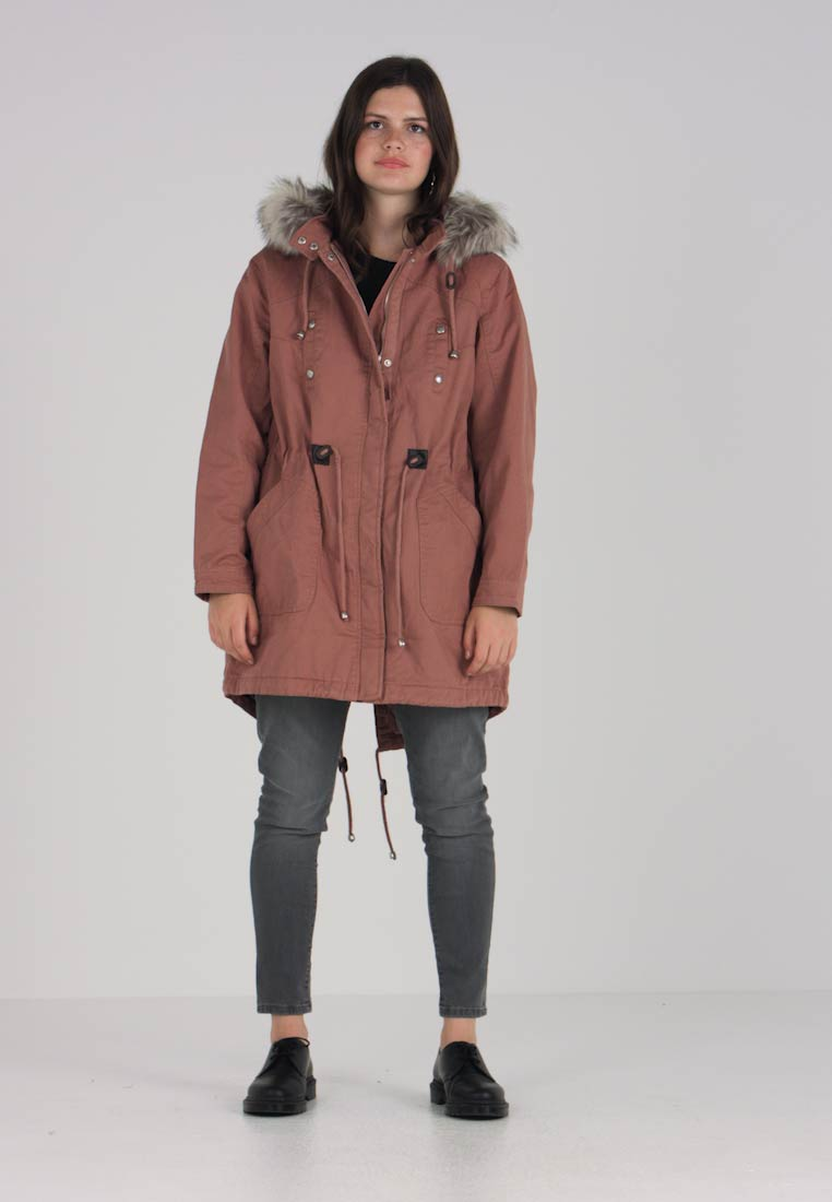 CAPSULE by Simply Be - PLAIN - Parka - pink