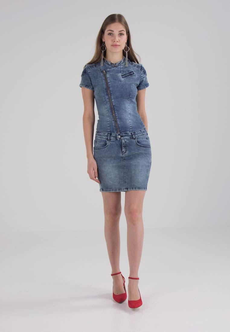 Circle of Trust CLOVER DRESS - Robe en jean - amazon blue wash