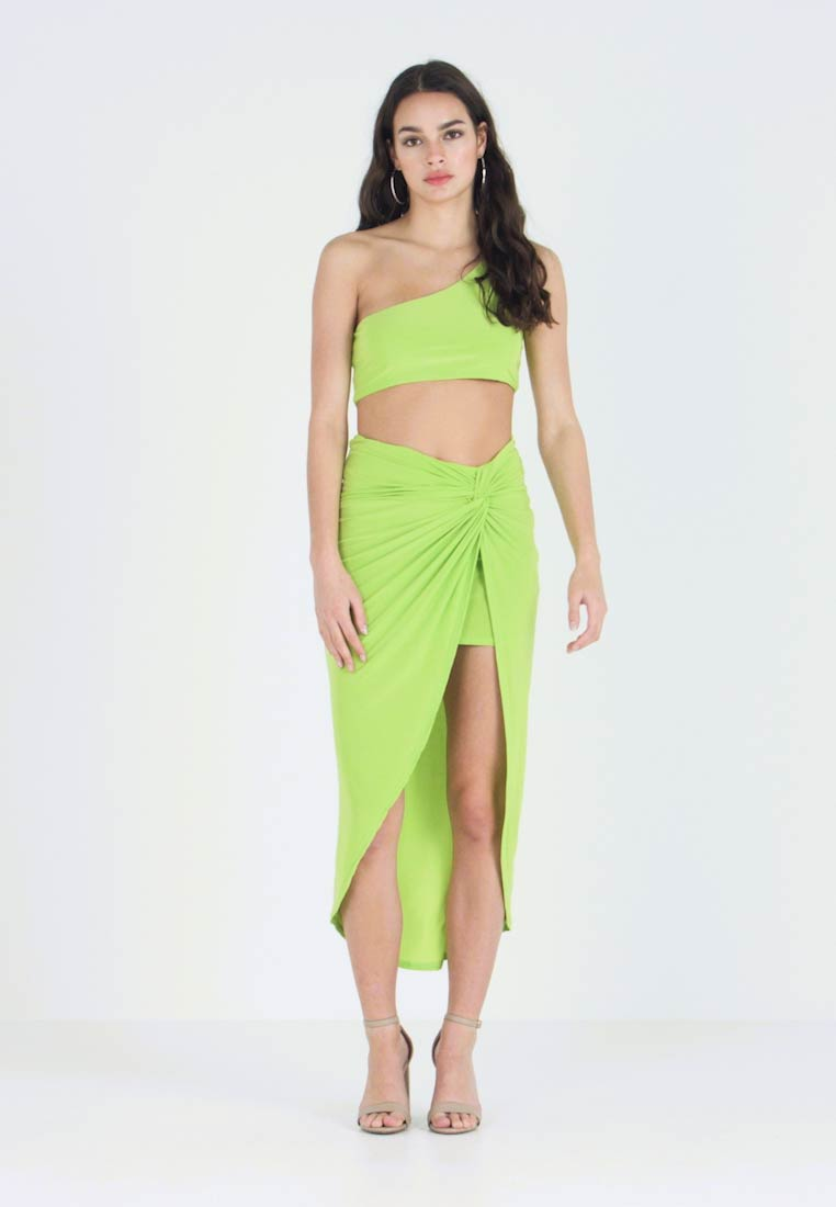 Club L London - TWIST WRAP SKIRT - Blyantnederdel / pencil skirts - lime