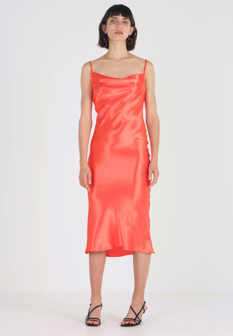 Club L London - COWL NECK DRESS - Hverdagskjoler - orange