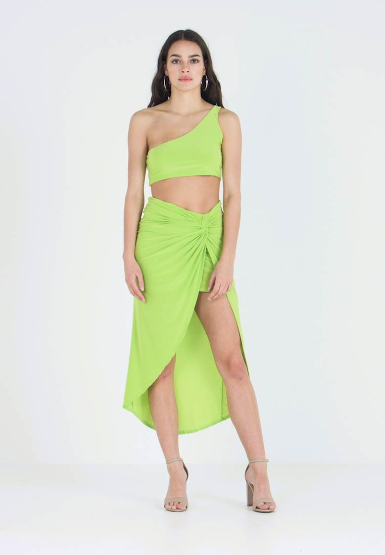 Club L London - ONE SHOULDER - Débardeur - lime