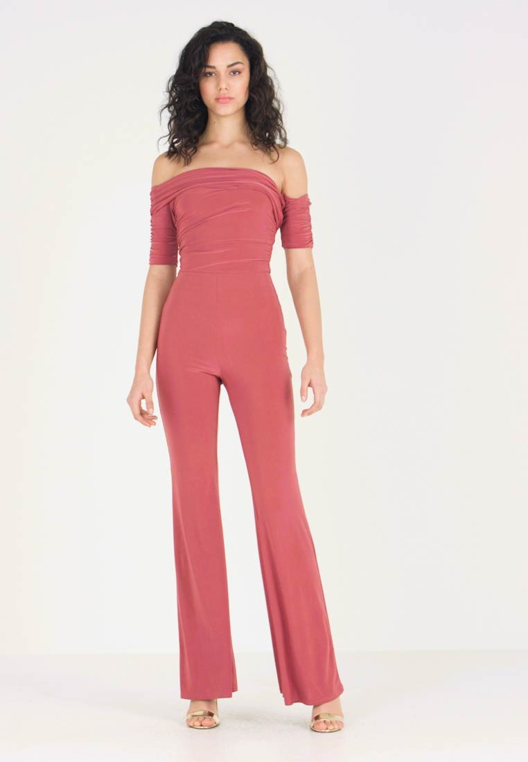 Club L London - ASYMMELTRIC - Overall / Jumpsuit /Buksedragter - raspberry