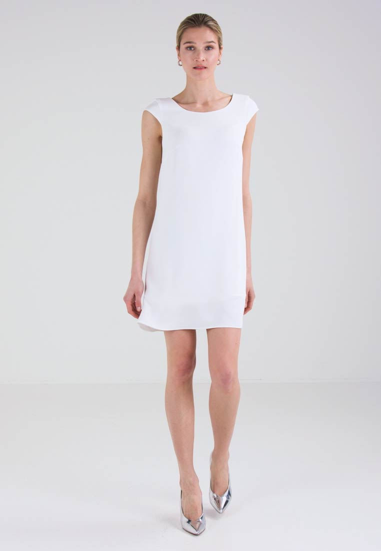 New Comma Lower Day Dress Offwhite Prices n4U1wxn