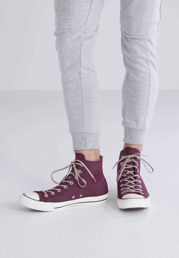 Converse CHUCK TAYLOR ALL STAR WAX LEATHER - HI - Zapatillas altas dark sangria/malted/egret