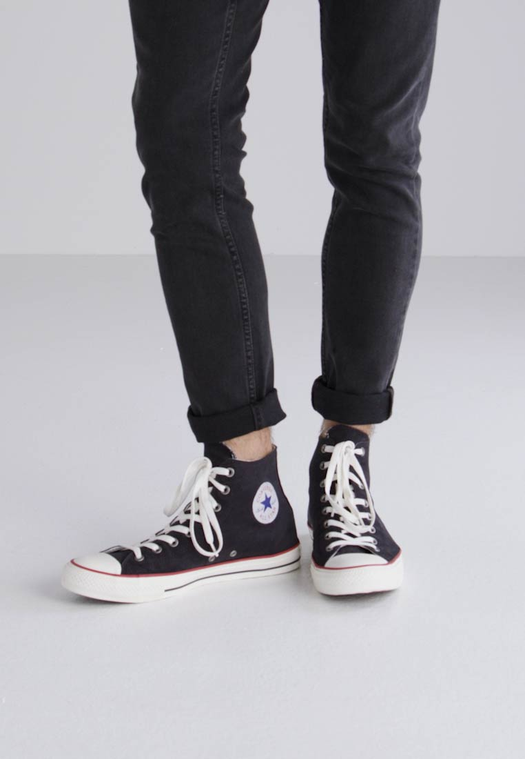 Converse CHUCK TAYLOR ALL STAR OMBRE WASH - HI - Zapatillas altas black/garnet/white