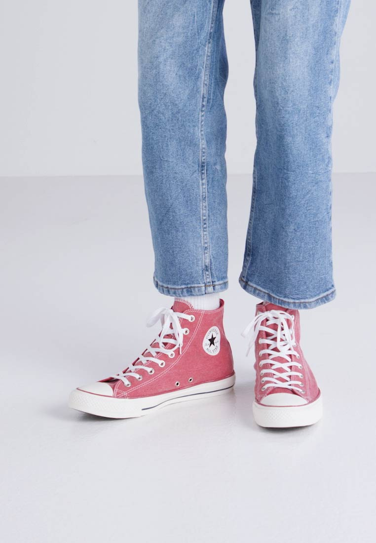 Converse CHUCK TAYLOR ALL STAR - PRINTED WASH - Baskets montantes - enamel red