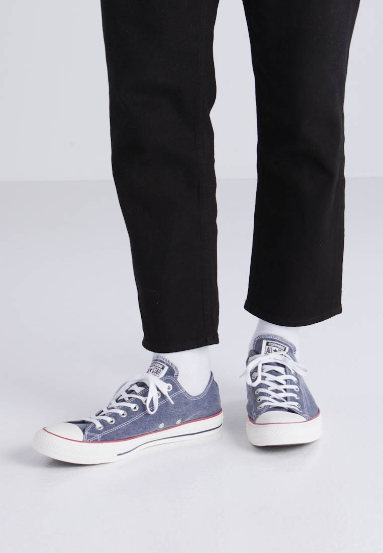 Converse CHUCK TAYLOR ALL STAR OX PRINTED WASH - Baskets basses - navy